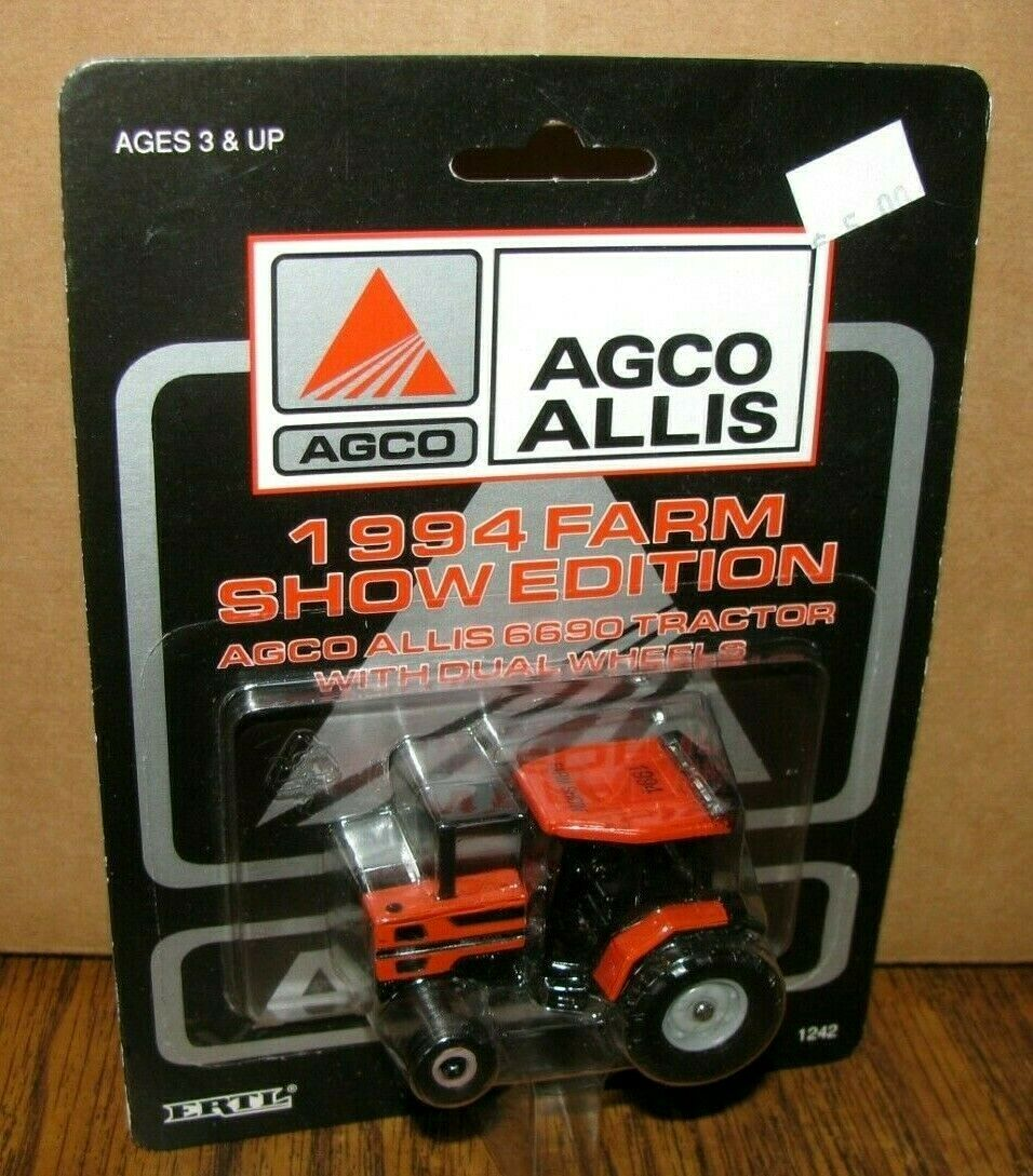 *AGCO ALLIS 6690 Tractor Dual Wheels 1/64 Ertl Toy 1242 1994 Farm Show Edition