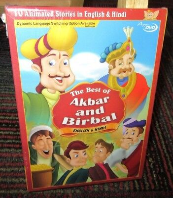 THE BEST OF AKBAR & BIRBAL DVD, 10 ANIMATED STORIES IN ENGLISH & HINDI, APPU (Best Story In Hindi)