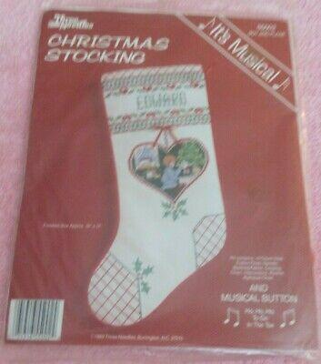 "THREE NEEDLES Counted Cross Stitch Kit 17"" CHRISTMAS STOCKIN"