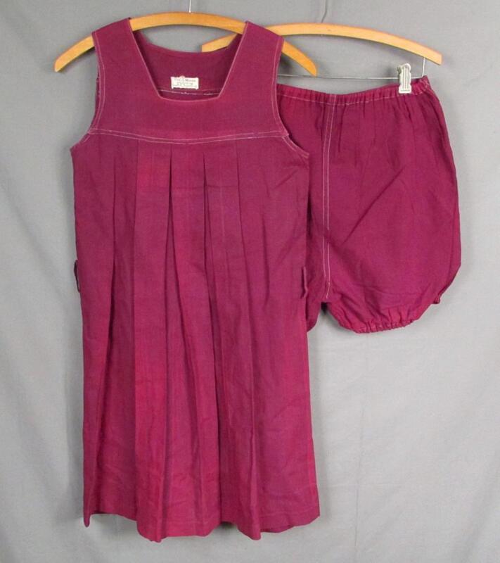 Vintage 1930s Eva S.Moore Purple Gabardine Athletic Outfit Gym Sports Uniform