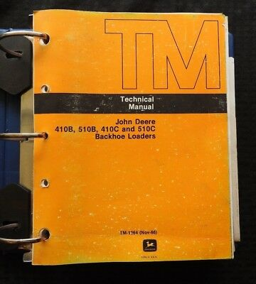 John Deere 410b 510b 410c 510c Backhoe Loader Tractor Technical Service Manual