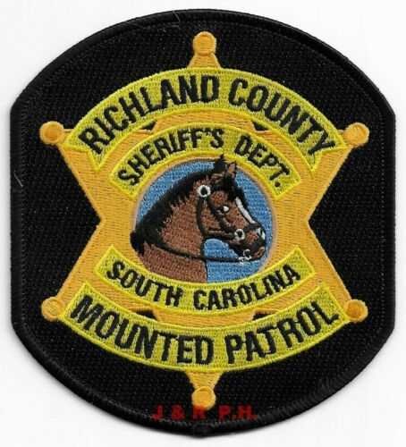 """Richland County Mounted Patrol, SC (4"""" x 4.5"""" size) shoulder police patch (fire)"""