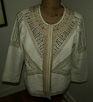 Woman;s new cotton jacket CHICOS Size 1 /M/