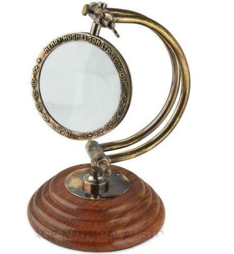 Nautical Antique Brass Magnifying Glass Curved Handmade Reading lance gift items