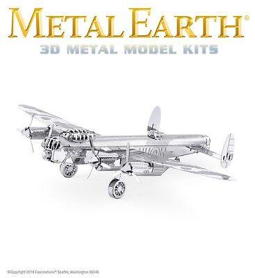 Fascinations Metal Earth Avro Lancaster Bomber Airplane Laser Cut 3D Model
