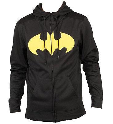 Adult Batman Hoodie (Batman Pieced Poly Adult Hoodie - Official DC Comics Superheroes)