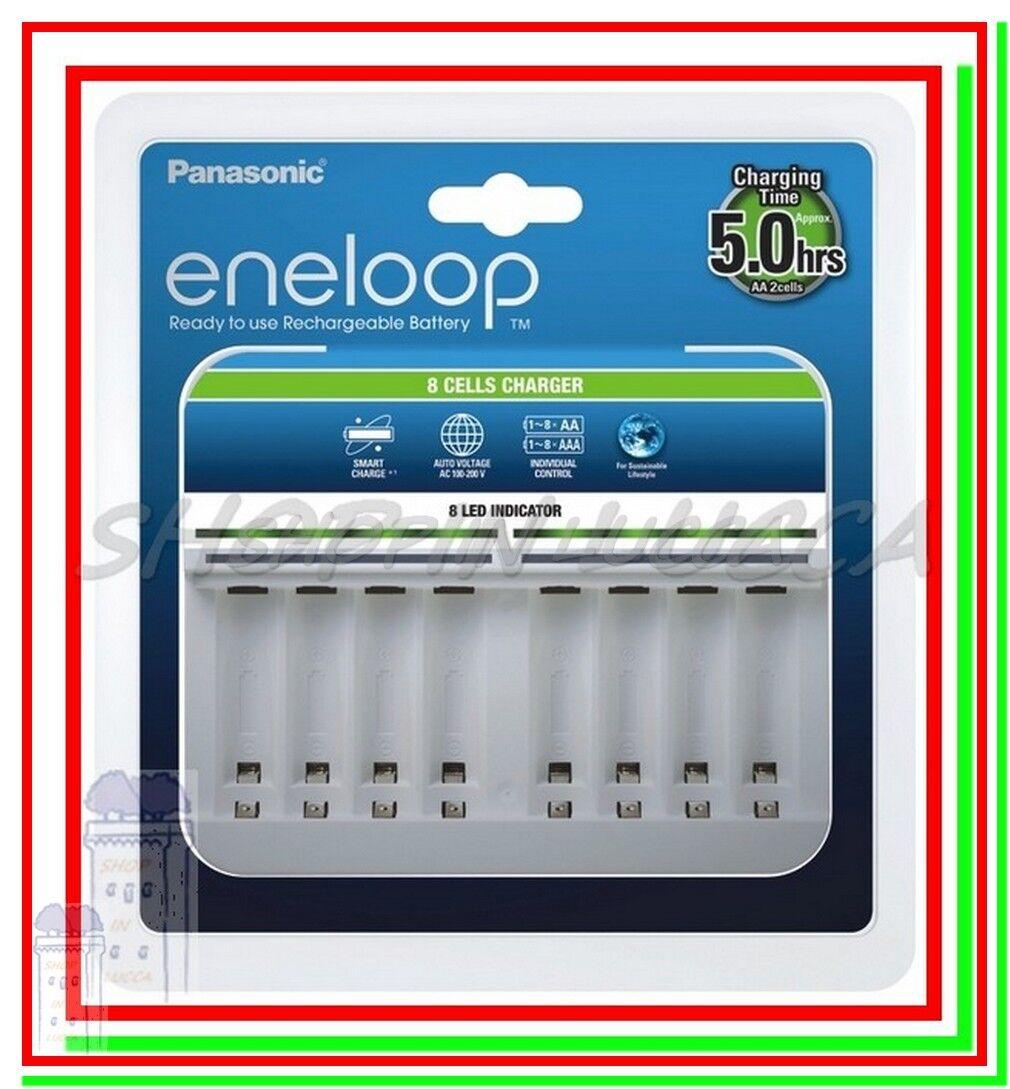 Caricabatterie per Pile Ricaricabili PANASONIC ENELOOP BQ-CC63E x NiMH AA e AAA