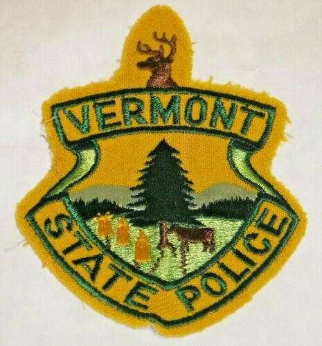 Vermont State Police arm patch  *USED* RETRO Patch **RARE**