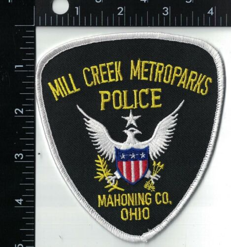 Mill Creek Metroparks Police Mahoning CO. Patch Ohio OH