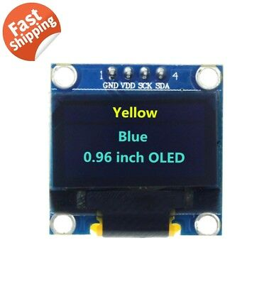 0.96 I2c Iic Serial 128x64 Yellow Blue Oled Lcd Led Display Module For Arduino