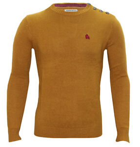 Jack & Jones Button O-Neck Mens Designer Jumper - 3 Colours