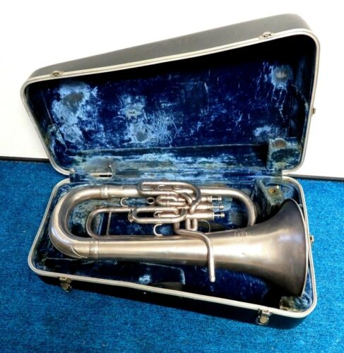 Silver Besson Euphonium Compensating 623199_ England NewStandard