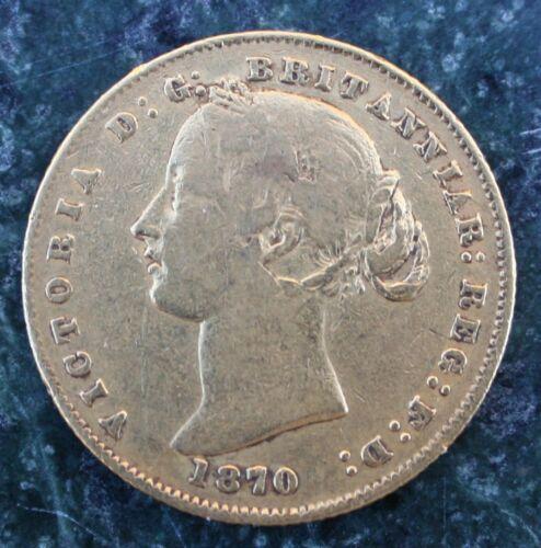 Rare 1870 Australia  Queen Victoria Full Sovereign Gold Coin