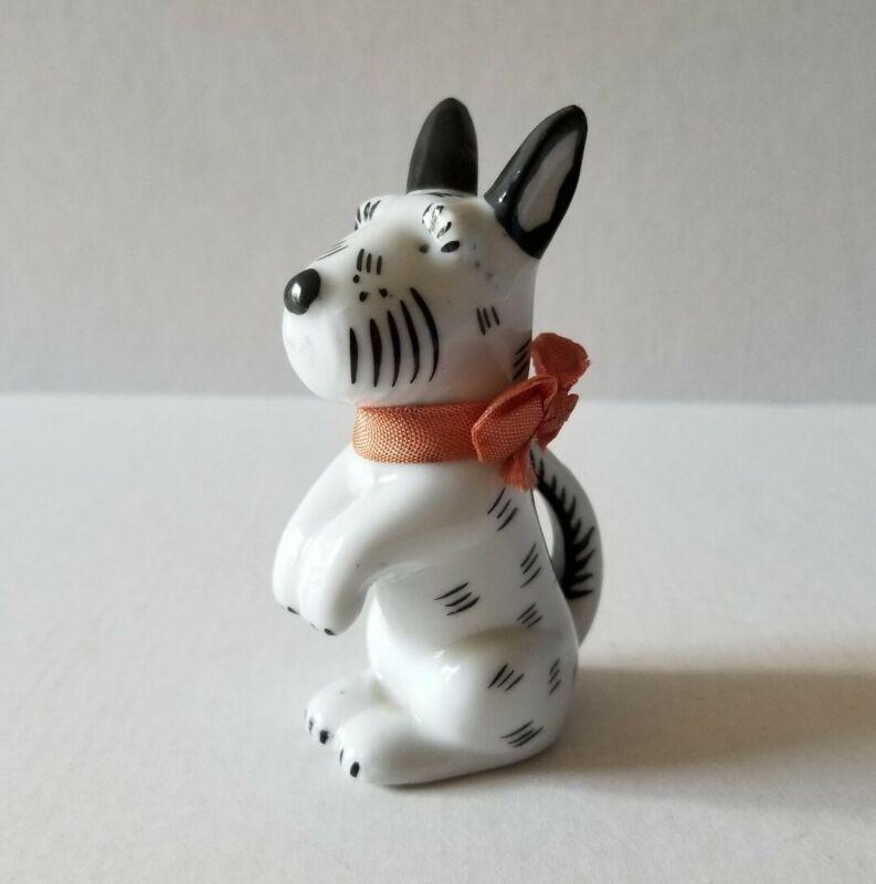 Scottish Terrier Ortloff Bosse Germany Art Deco Scotty Dog Porcelain Figurine