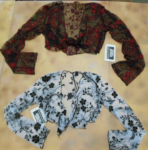 Flamenco Tie front Top 2 colors child/ladies Rose print Sheer Net