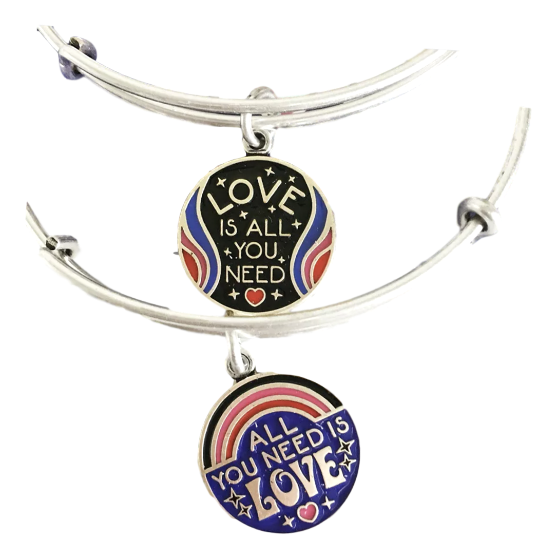 Alex and Ani ALL YOU NEED IS LOVE SET OF 2 Bracelet Silver B