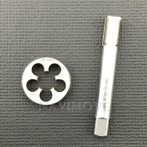 High Quality New HSS M15 x 1mm Tap & M15 x 1.0mm Die Metric Thread Right Hand