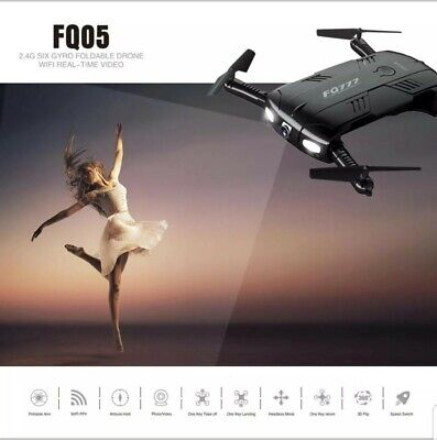 FQ777 FQ05 6-Axis Gyro 2.0MP Wifi Fpv Drone Camera Selfie Foldable Quadcopter US