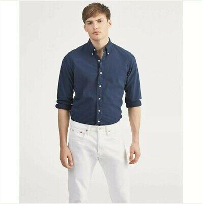 NEW Men's Polo Ralph Lauren Blue Indigo Oxford Shirt Size 3XB 3X B NAVY PONY $98