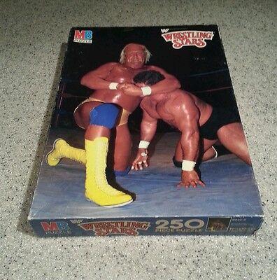 MB MILTON BRADLEY WRESTLING STARS PUZZLE HULK HOGAN 1985 TITAN SPORTS WWF
