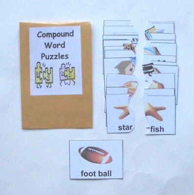 Compound Words Game (Teacher Made Literacy Center Vocabulary Resource Game Compound Word)