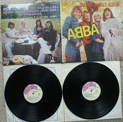 ABBA - Golden Double Album - 1976 2 x Vinyl LP + Gatefold sleeve EX- LP FRENCH