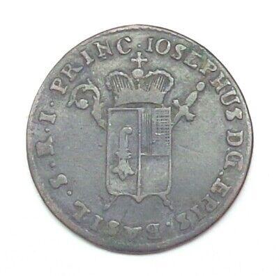 1787 Switzerland - Bishopric of Basel 1/2 Batzen, Billon, KM-46.