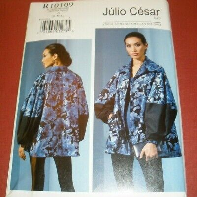 Vogue 9368 10109 Pattern Misses Loose Fitting Jacket Puff Sleeve Sz  8-18  UC