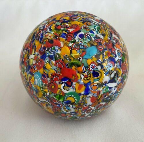 JOHN GENTILE ART GLASS MILLEFIOR PAPERWEIGHT W. VA