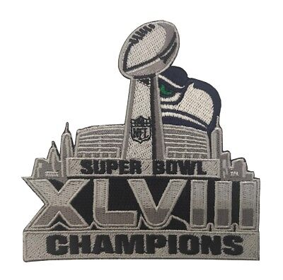 Super Bowl 48 XLVIII Embroidered Iron/Sew On Patch Seattle Seahawks (4X4 Inch)