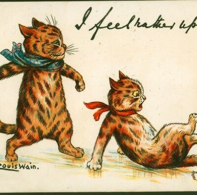 MINT.! LOUIS WAIN...CAT TUMBLES