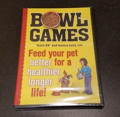 Bowl Games (DVD) Jessica Levy Katie K9 Riopel dog training feeding nutrition NEW
