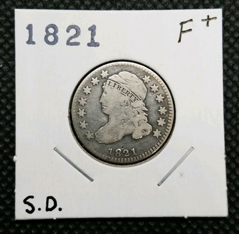 1821 Capped Bust Dime (Small Date) | CHOICE FINE | Great Type Coin!