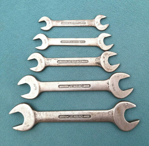"""Vintage set of JENBRO Spanners. AF sizes 7/16"""" – 1"""""""