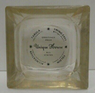 ENGRAVED GLASS ASHTRAY BOWL UNIQUE HOUSE HARDWARE ADVERTISING SIGN GARAGE DOORS