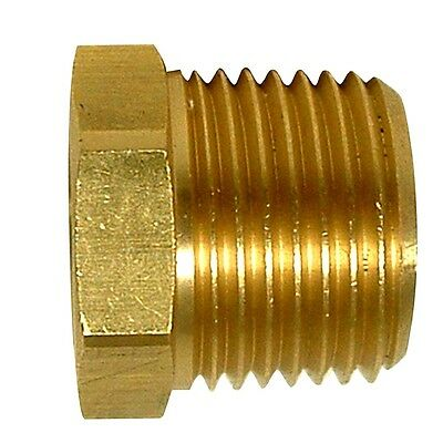 1/8 F x 1/4 NPT M threaded Yellow brass bushing pipe HEX Reducer fitting NPTF