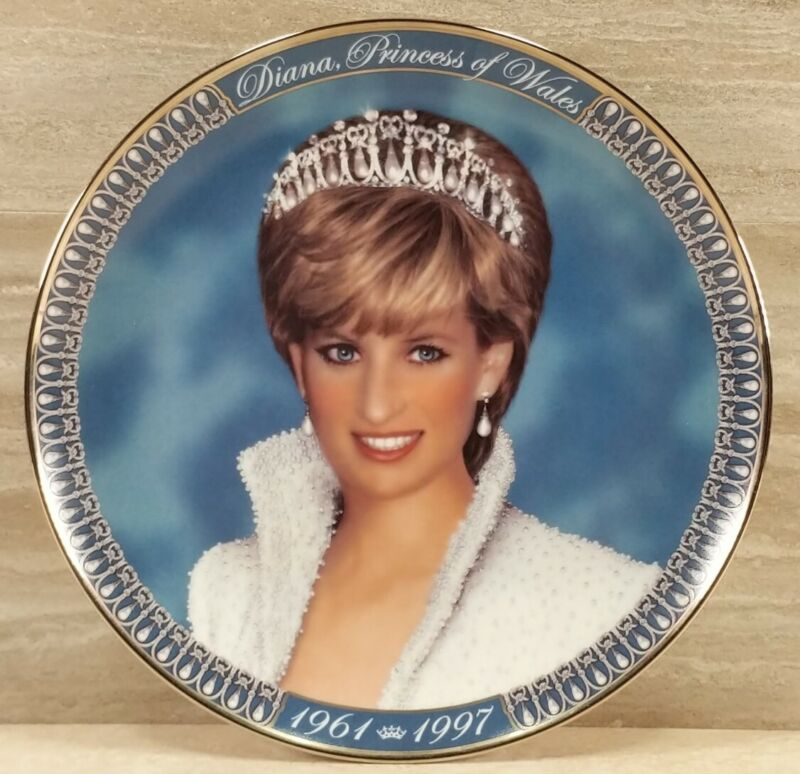 Diana Princess of Wales 1961-1997 Tribute Plate Franklin Mint Porcelain Numbered