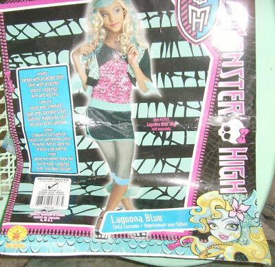 Girls Size M 8-10 Laguna Blue Monster High Halloween Costume Ocean Fish Girl