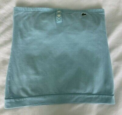 Lacoste Women's Strapless Tube Top Light Blue Cotton Stretch Size 36/2/XS