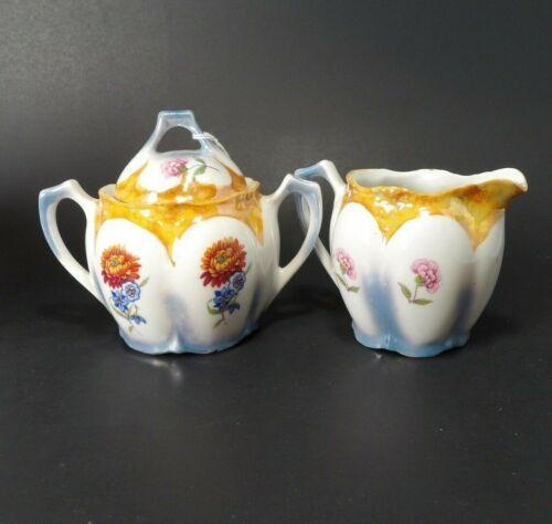 Germany Cream & Sugar Set ~  Spring / Fall Floral Design ~ Vintage, flowers