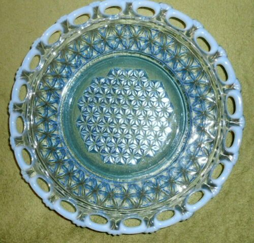 IMPERIAL Opalescent Plate Katy Blue