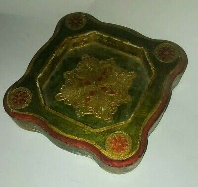 Vintage Mid Century Italian Hand Made Florentia Ash Tray Beautiful old wow LOOK
