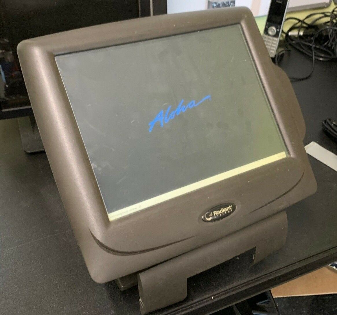 Radiant Systems P1510 POS Point of Sale Touch Terminal P1510-0240 w// Card Reader