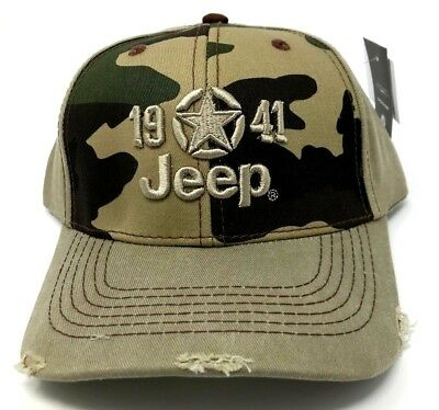 Star-logo-cap (New Jeep 1941 Embossed Star Logo Cap Distressed Baseball Hat One Size Mopar)