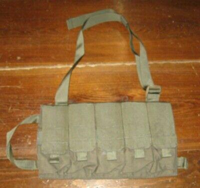 FirstSpear AK 7.62x39 Fight Strap 5 mag bandoleer Ranger green magazine pouch FS