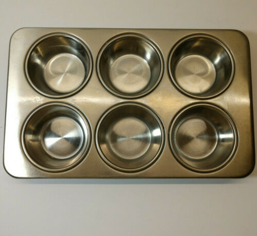 Revere Ware Stainless Steel Muffin Cupcake Pan #2516 87