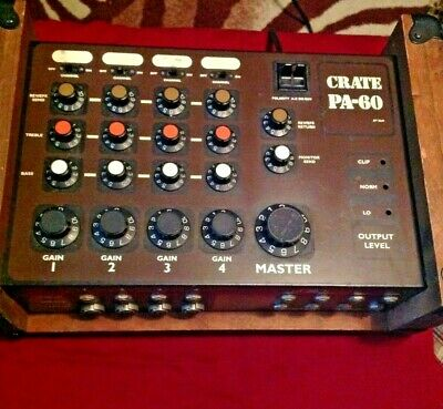 Vintage 1970's CRATE PA-60 Mixer Amp