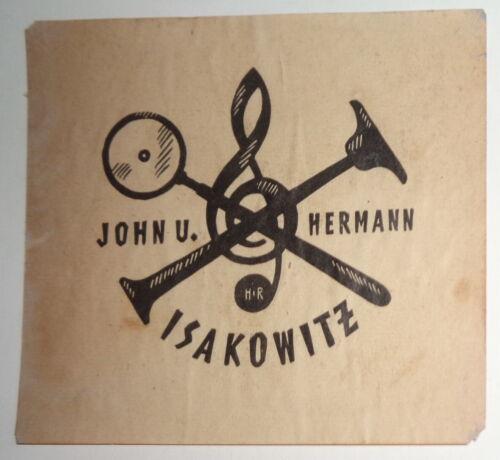 John u. Hermann Isakowitz HR - Ex Libris Bookplate