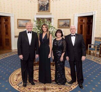 President Donald Trump  Melania  Vp Mike Pence  Karen 8X10 Photo   High Quality