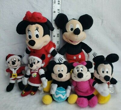 Plush Minnie Mouse (Disney Mickey Mouse Stuffed Animal Lot Of 7 Collectibles Minnie Mouse Plush)
